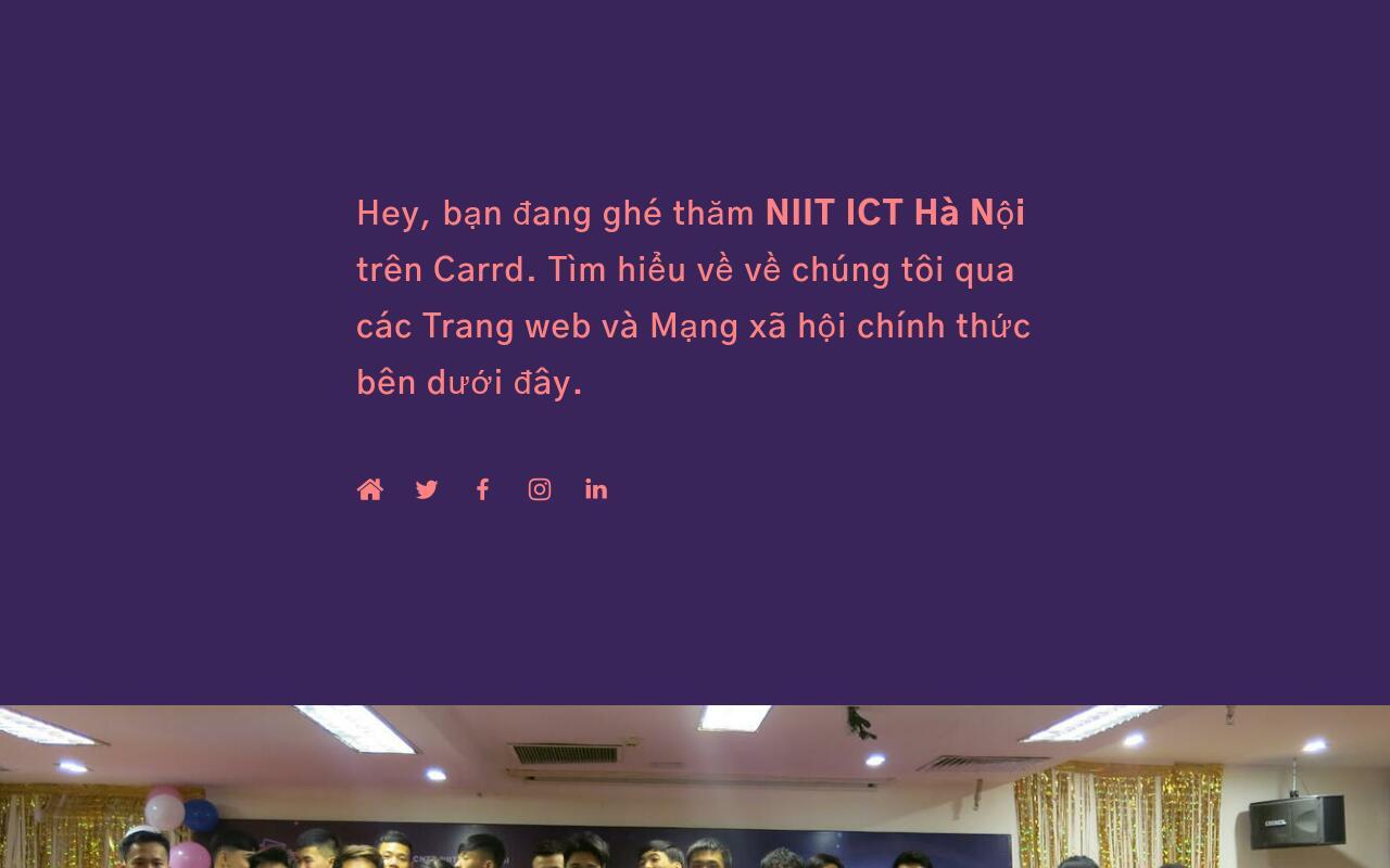 NIIT ICT Hà Nội on Carrd